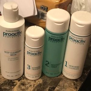 Proactiv system with deep cleanser also.